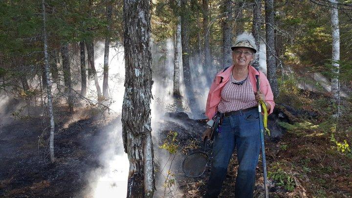 Американка потушила лесной пожар сковородкой