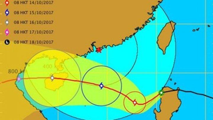 Новый опасный шторм надвигается на КНР , Филиппины иВьетнам