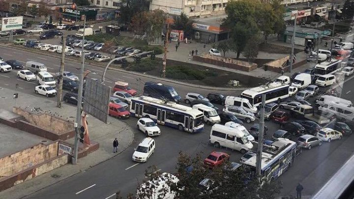 Фото дня: хаос на бульваре Штефана чел Маре