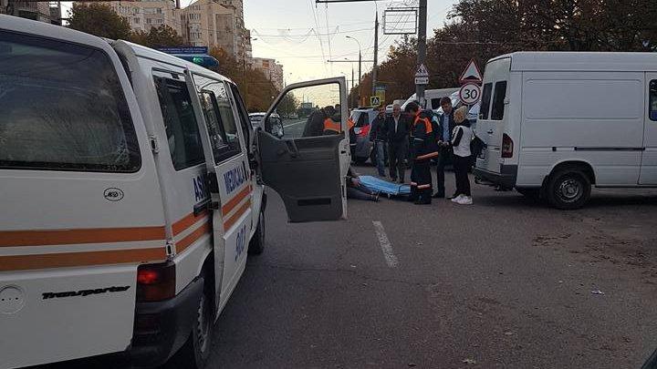 Мать с ребёнком попала под машину на Буюканах: фото