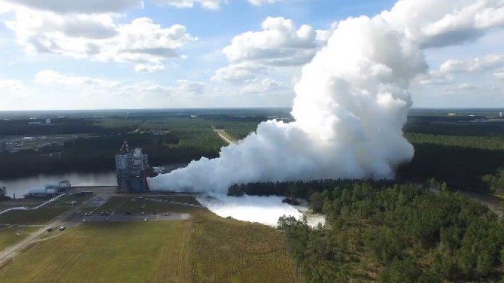 NASA провело огневые испытания нового двигателя для сверхтяжёлой ракеты SLS