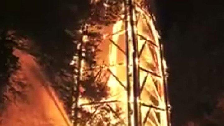 Во Франкфурте дотла сгорела главная достопримечательность: видео