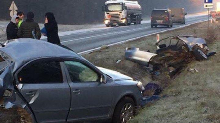 Легковушку разорвало на две части в ДТП на трассе Кишинёв-Леушены: два человека погибли (фото)