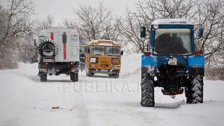 Снегопады в Молдове: три человека пострадали в результате ДТП в Новоаненском районе