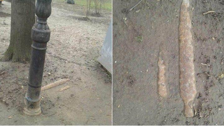 Тревога в парке Штефана чел Маре оказалась ложной: за снаряд приняли фрагмент трубы