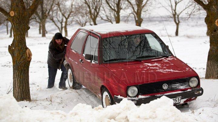 Некоторые национальные и местные дороги заблокированы из-за снега: фото