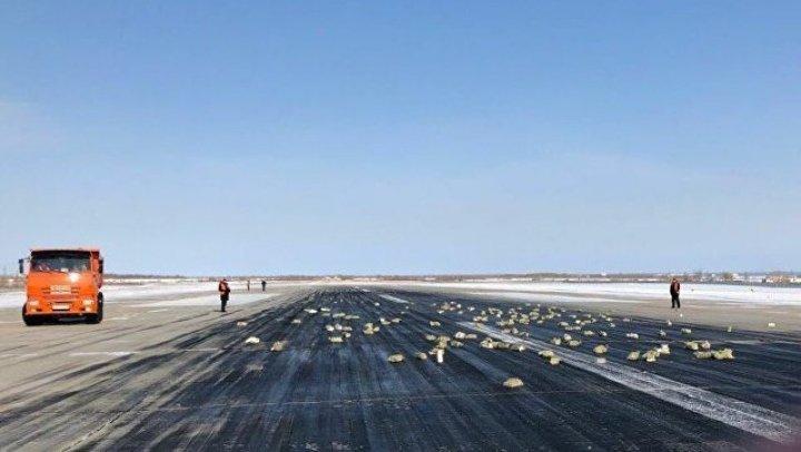 Появилось видео из рассыпавшего в Якутии слитки самолета