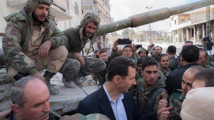 Башар Асад встретился с сирийскими бойцами на огневом рубеже в Восточной Гуте