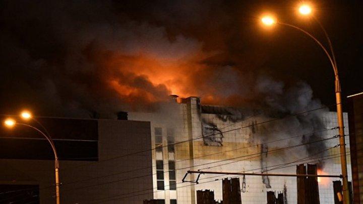СК опубликовал новое видео из горящего ТЦ в Кемерово