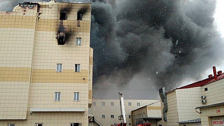 Первая искра: опубликован вырезанный из видео фрагмент с началом пожара в ТЦ