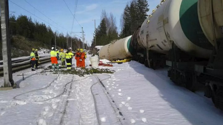 Более 50 тысяч тонн эфира вытекло из железнодорожной цистерны в Финляндии