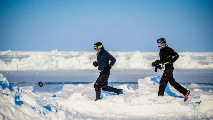 Пол Робинсон установил новый рекорд в забеге на милю на Северном полюсе