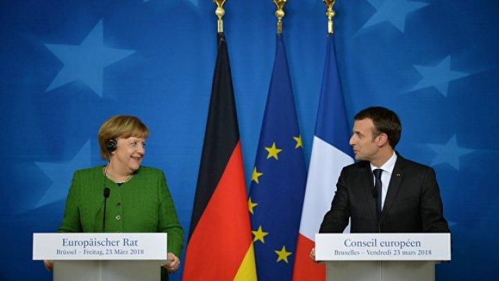 Меркель и Макрон договорились о необходимости общего бюджета еврозоны