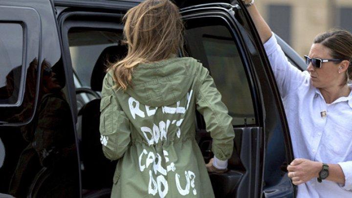 """""""Меня это действительно не волнует"""": Трамп прокомментировал надпись на куртке своей жены"""
