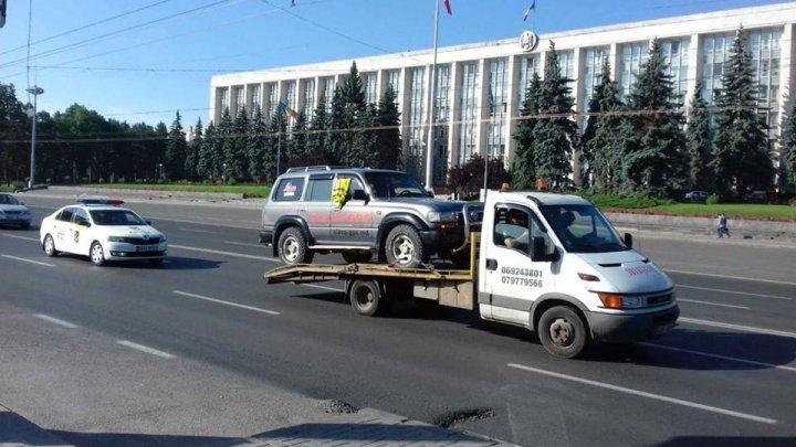 Водитель заблокировал движение на проспекте Штефана чел Маре