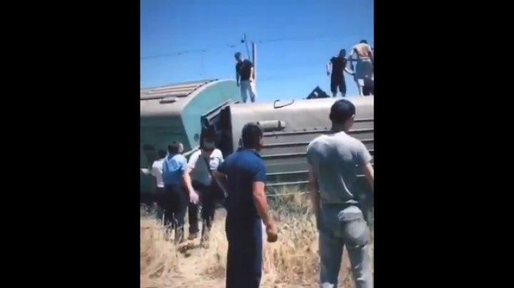 Пассажирский поезд сошёл с рельсов в Казахстане, есть пострадавшие