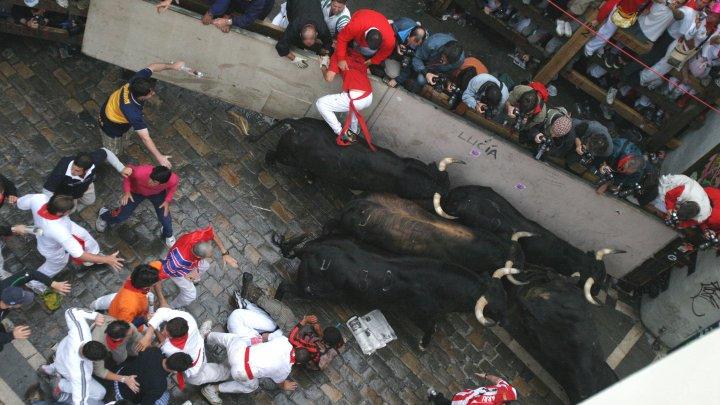 В Испании на забеге с быками получили ранения девять человек