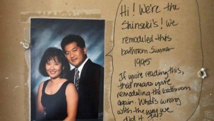 Супруги делали ремонт и нашли странное послание от предыдущих владельцев