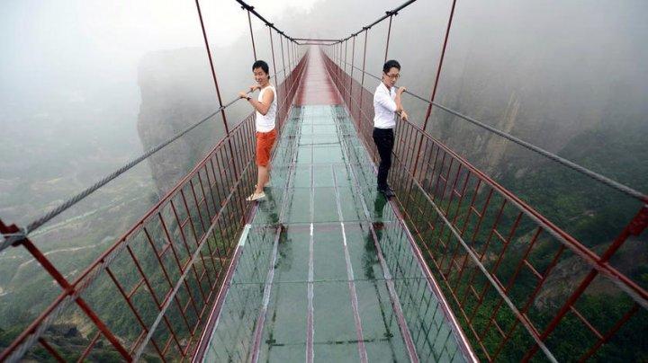 В Китае появился самый длинный стеклянный мост