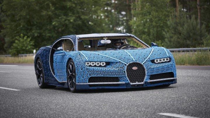 Lego построила полноразмерный Bugatti Chiron и он ездит
