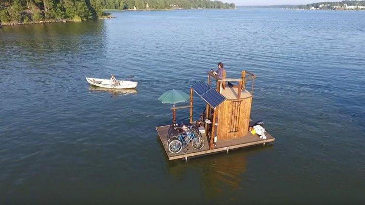 Финский изобретатель создал плавучую сауну и собрался на ней в путешествие
