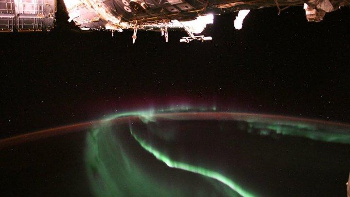 NASA показало вид на северное сияние с борта МКС