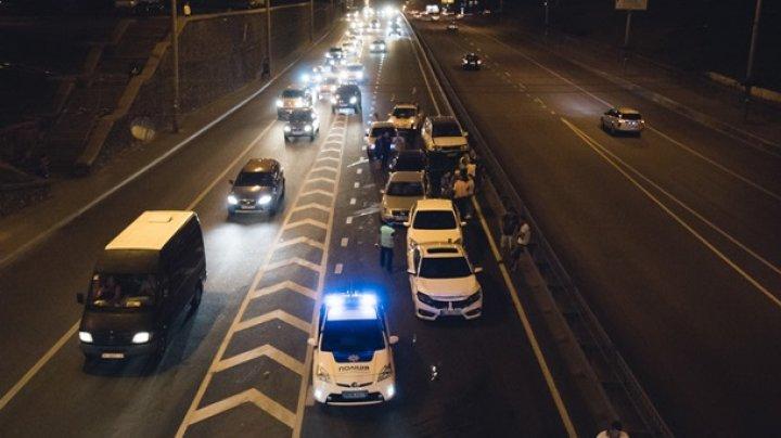 В Киеве столкнулись семь автомобилей