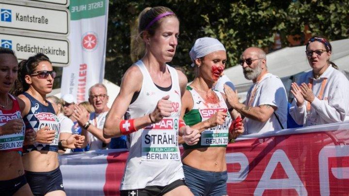Бегунья истекла кровью и выиграла марафон на чемпионате Европы: видео