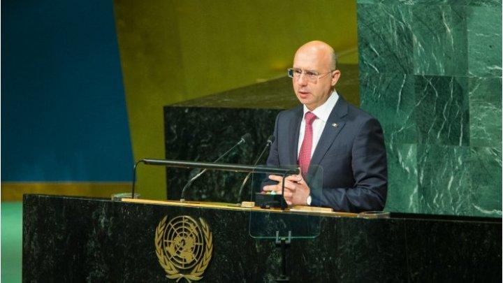 Павел Филип: Трибуна ООН - средство информирования о развитии событий по вопросу вывода иностранных вооруженных сил из Молдовы