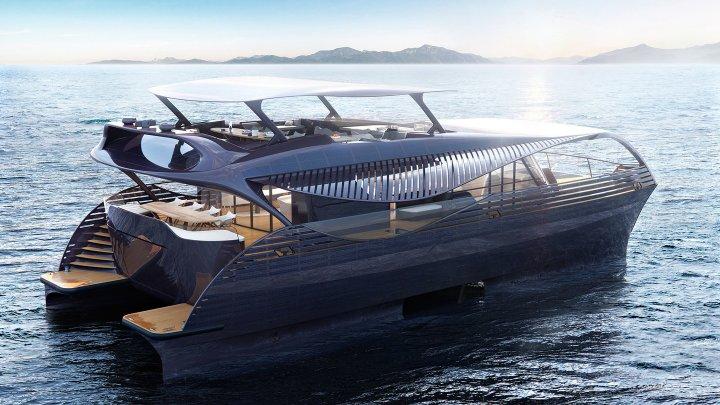 Представлена люксовая яхта на солнечных батареях