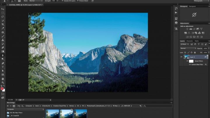 Photoshop научился автоматически удалять лишние объекты на фото