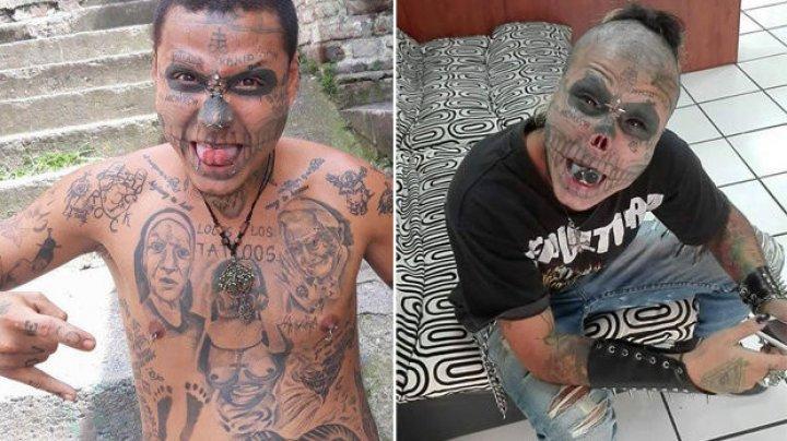 22-летний парень отрезал себе нос и уши, чтобы стать похожим на скелет