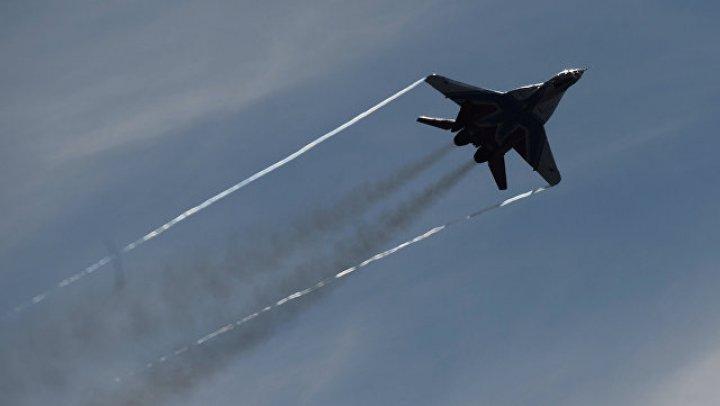 В Подмосковье упал истребитель МиГ-29