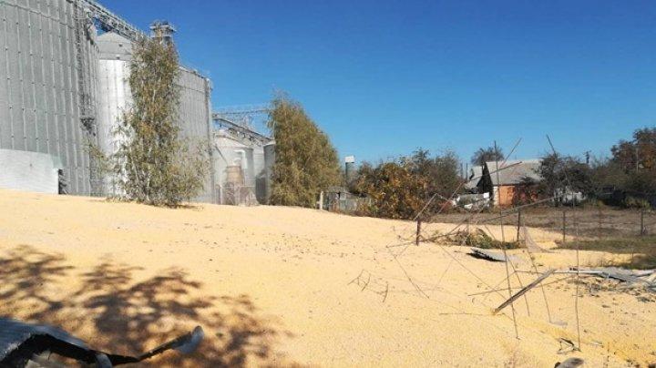 Под Сумами взорвался элеватор с кукурузой