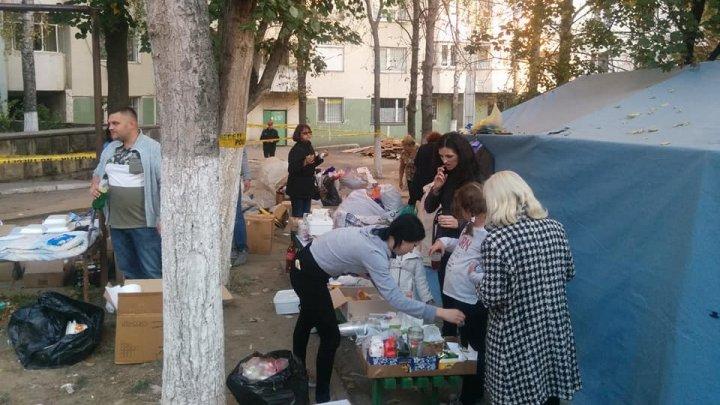 Пункт сбора помощи, пострадавшим во время взрыва на Рышкановке, закрыли