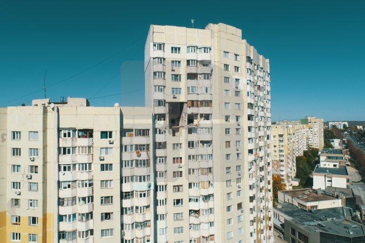 Взрыв на Рышкановке: Разрушенные квартиры засняли с дрона