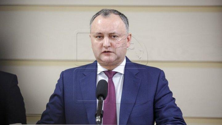 Президент Игорь Додон рад отказу либералов и либеральных демократов от голосования по законопроекту о евроинтеграции