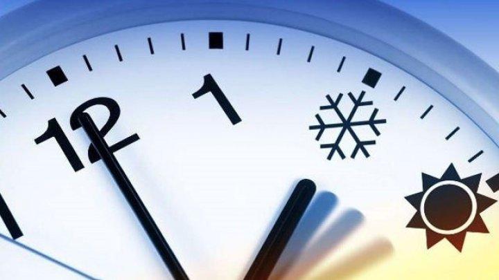 Молдова перейдет в воскресенье на зимнее время