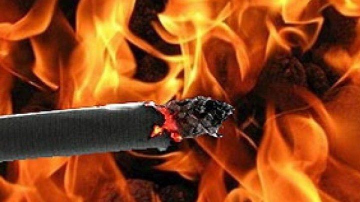 Пожар в Леовском районе произошел из-за непотушенной сигареты