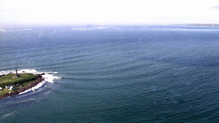 В Японии остров ушел под воду