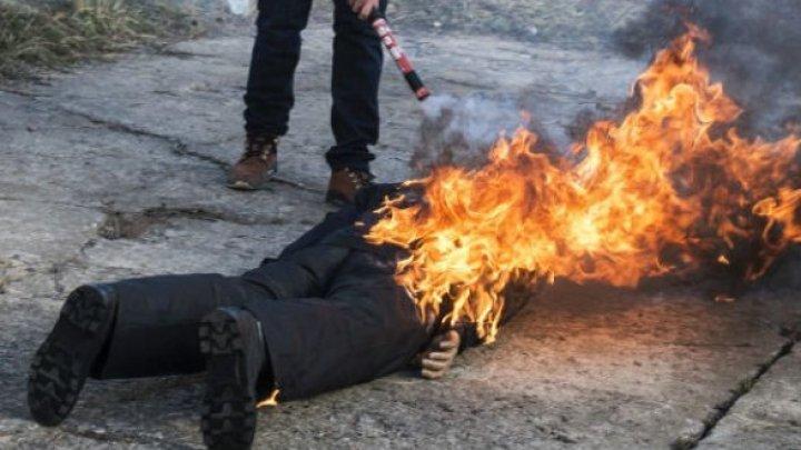 Молодой парень из Глижен облил себя бензином и поджег на глазах у отца