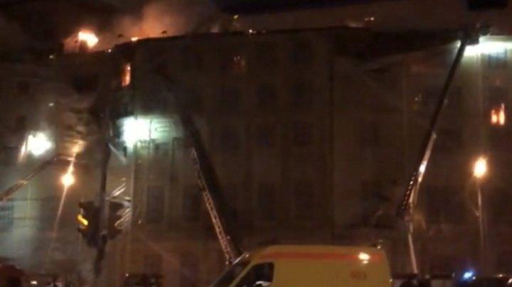 В центре Москвы произошёл крупный пожар