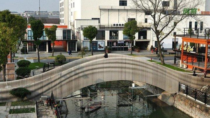 В Шанхае с помощью 3D-принтера построили мост