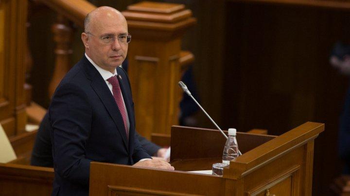 Глава кабмина Павел Филип представил отчет за 2016-2018 годы в парламенте