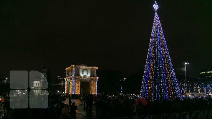 В столице зажгли огни на главной елке страны