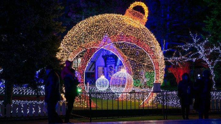 В центре Кишинева дали старт зимним праздникам (фото)