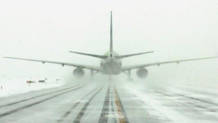 В аэропорту Кишинева отменили несколько рейсов из-за непогоды