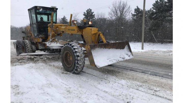 На национальных дорогах движение осуществляется в зимних условиях