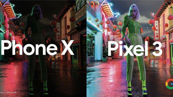 Google наглядно продемонстрировал превосходство Pixel 3 над iPhone XS