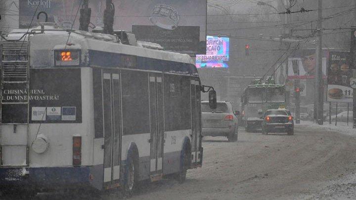 Непогода в столице: автобусы сокращены, движение троллейбусов может быть приостановлено